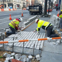 Installation of Granite Cobble Stone between P and Q Street