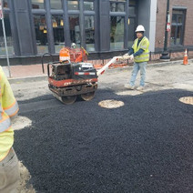 Placement of Temporary Asphalt