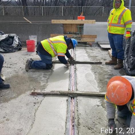 Strip Seal Joint Reconstruction, North Bridge.