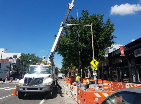 28' Pole L80/PP installed by FMCC Electric crew