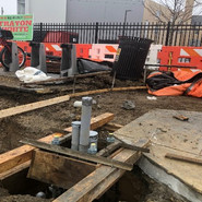Installation forms for Traffic and Signal Foundation at NEC of 5th St and Alabama Ave for L80, TS.2 and TS.1