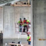 Installing Working Platforms at Pier 6, North Bridge