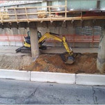 Excavation for DCP testing approximately from Sta.103+00 to Sta.103+25.