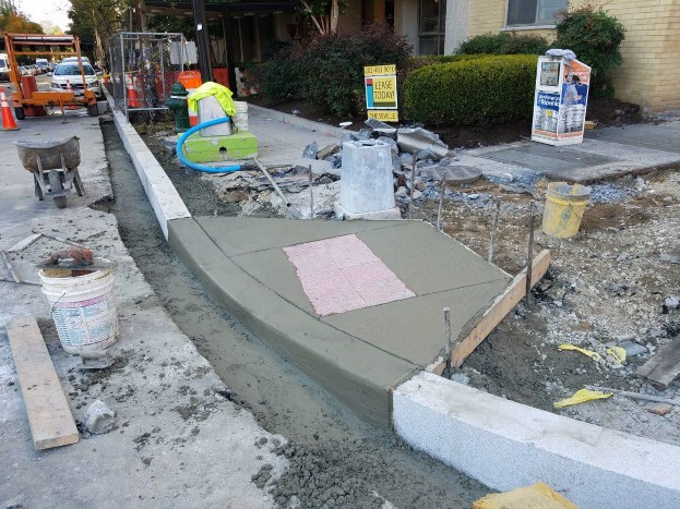 Installation of ADA Ramp at the NW corner of 14th and N Street on the N Street side
