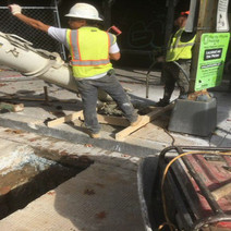 Pour of the formed Street Light Foundation