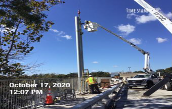 Installing Overhead Sign Structures, South Bridge.