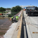Sidewalk Demolition, South Bridge.