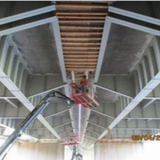 Corman Stripping Formwork and Removing Demo Shield from Under Span 13, OH Sign Structure No. 3.
