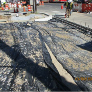 Preparing for the installation of driveway entrance at SB MLK at Crown Gas Station North Entrance at around Sta: 56+50