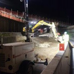 Removal of demolished/debris along AFW Bridge 1017 SW of P.G.L on South Capitol St (I-295 SB) approximately from Sta.104+70 to Sta.103+50.