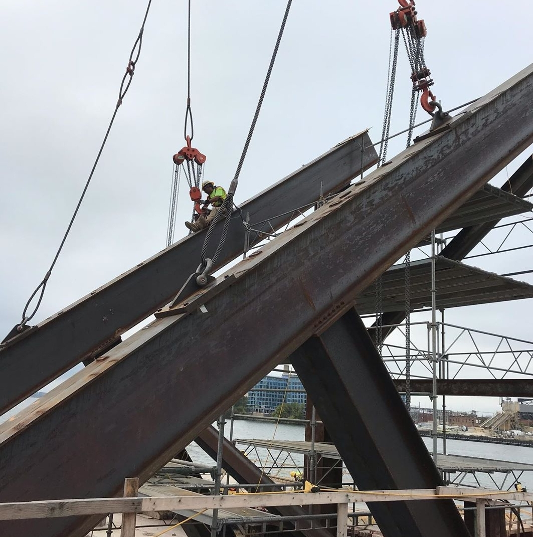 Falsework removed