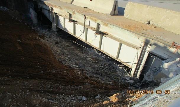 Demolition at East Abutment, North Bridge.