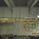 Building Work Platform at Pier 15, North Bridge Looking West