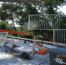 Resetting Existing Railing, South Bridge.