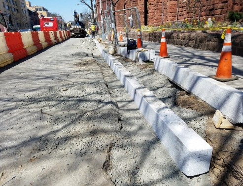 Placement of Granite Curb between Thomas Circle and N Street