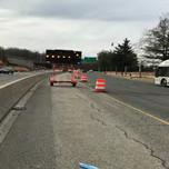 MOT installed for SB South Capitol Street, SW lane closure