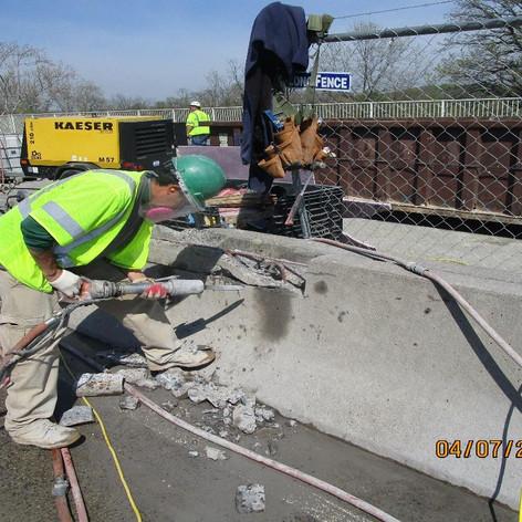 Median Barrier Concrete Repair