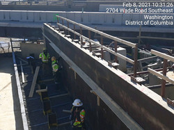 Suitland Parkway Bridge Abut A-forming the stem wall