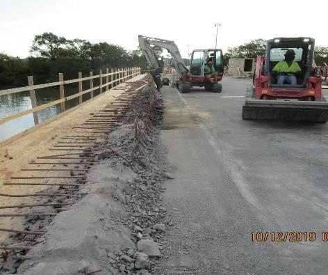 North Bridge Sidewalk Parapet Demo