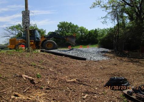 Establishing Construction Entrance at Ramp I-295 South