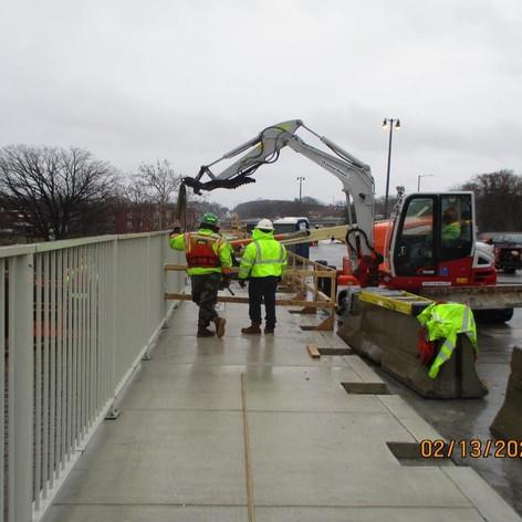 Resetting Pedestrian Railing, North Bridge.