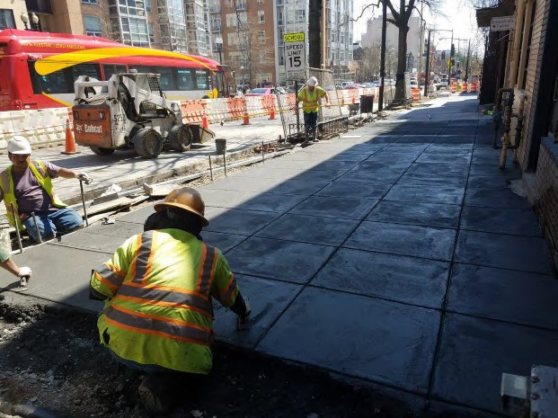 Installation of New PCC Sidewalk between V and W Street on the Westside