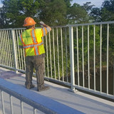 Touchup Painting, North Bridge Pedestrian Railing.