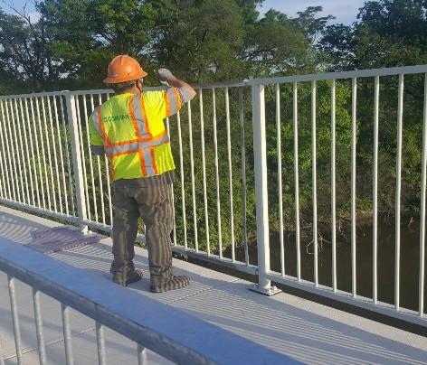 Touchup Painting, North Bridge Pedestrian Railing.