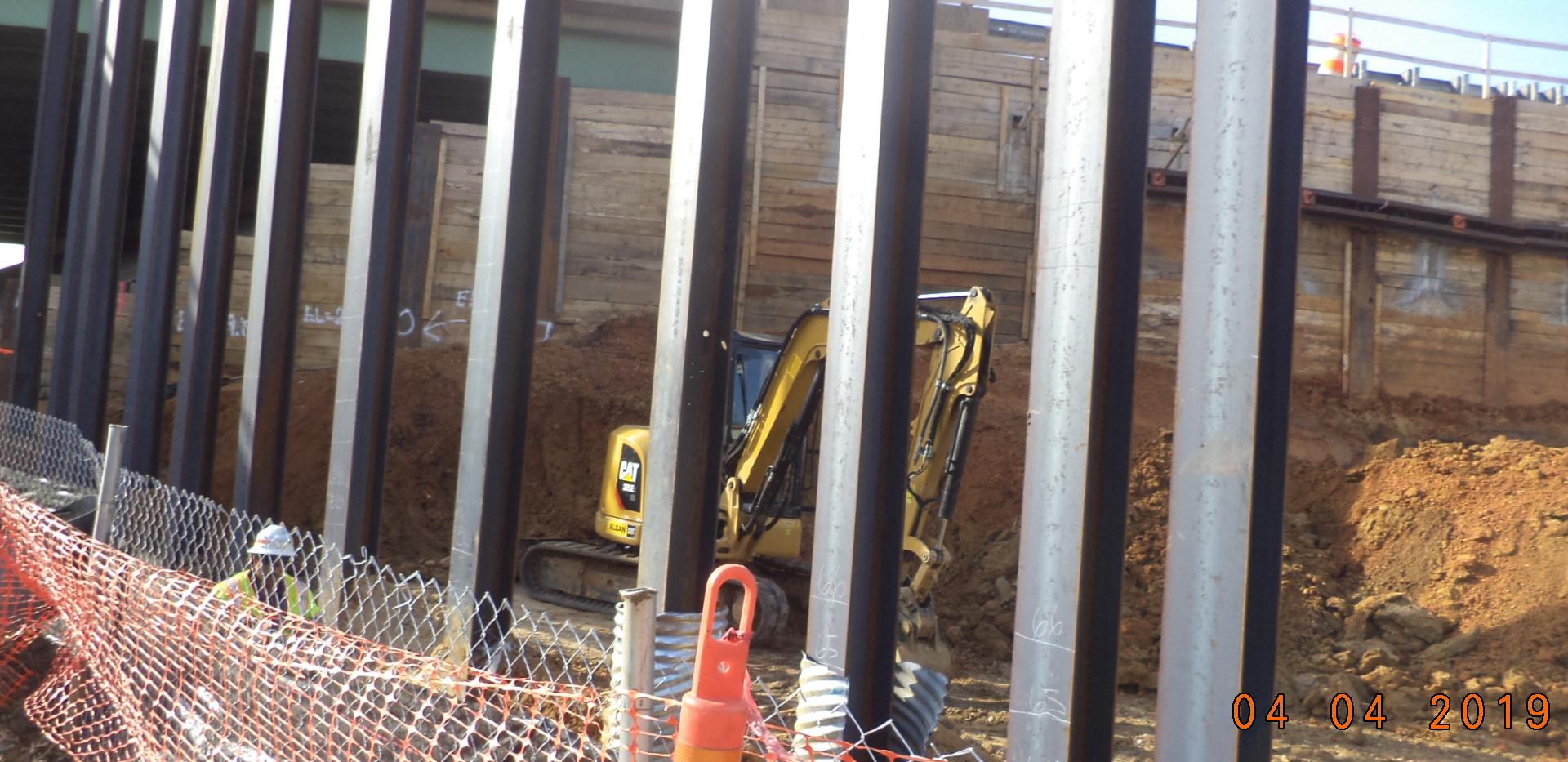 New Piling For Howard Road Bridge