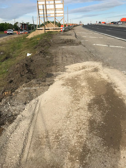 I-295 NB: Backfill and compact RC-6 to prep for paving shoulder area