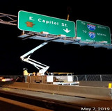 Overhead Signs removal along the Eastbound of the East Capitol Street Bridge
