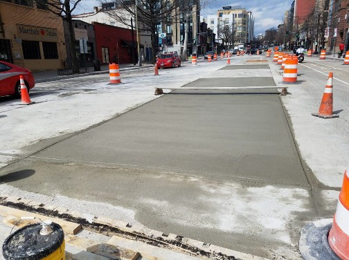 PCC Pavement Repair between V and W Street