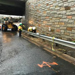 Removing of existing guardrail on NB South Capitol Street, SE