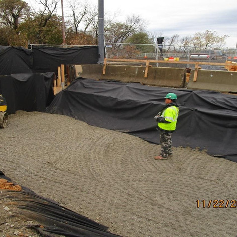 Structural and Embankment Backfill at East Abutment, North Bridge.