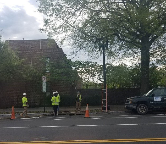 Omni was on site cleaning the manholes