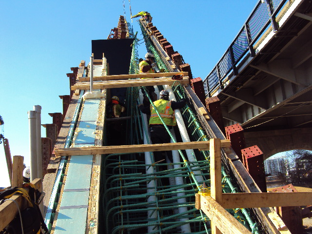 Repair work for V-Pier 1 South