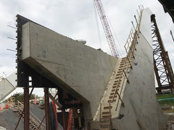 East Abutment: Strip wingwall