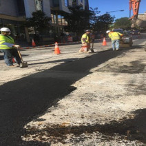 Placement of Temporary Asphalt over Electrical Trench on 14th at Florida Ave