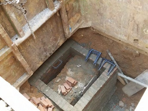 Construction of Brick Combine Sewer Manhole