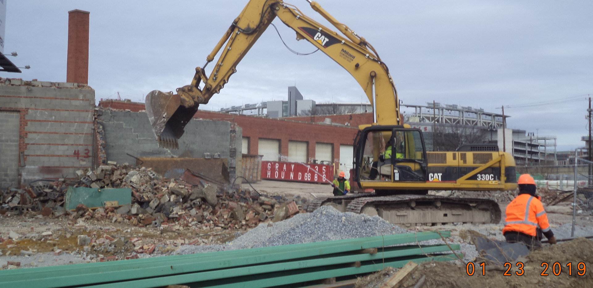 Demolition existing building 1601
