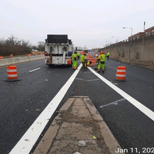 East Capitol Street Bridge Over Anacostia River, Pavement Marking, East Approach.