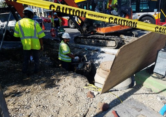 Backfill by Omni excavators for hydrant #H11322