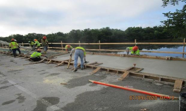 East Capitol Street Bridge Over Anacostia River, South Bridge Sidewalk Concrete.