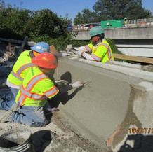 Single Face Barrier Reconstruction at West Side, South Bridge.