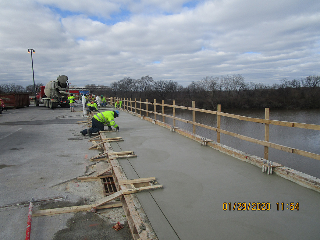 North Bridge Concrete Placement