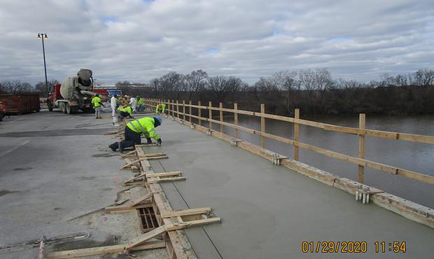 North Bridge Concrete Placement