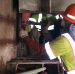 Drilling for rebars Bridge 1016 abutment B, Phase B