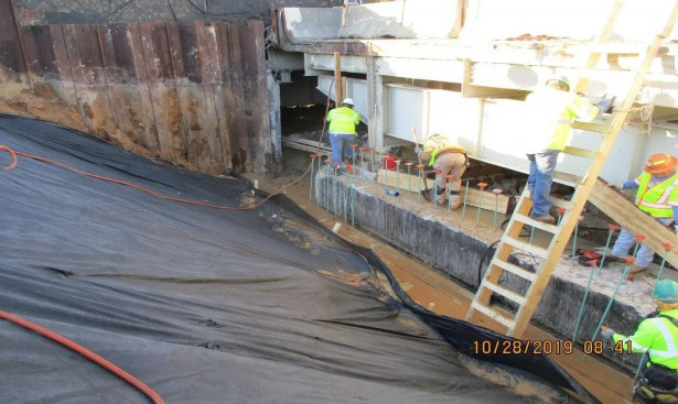 Backwall Reconstruction, East Approach North Bridge.