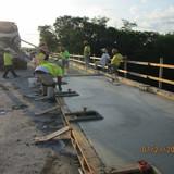 Sidewalk Concrete at Span 6, South Bridge.