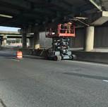 Bridge work at the Pier under SB Anacostia Freeway